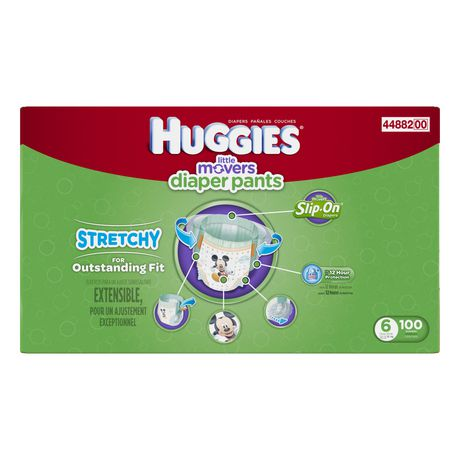 Huggies Little Movers Slip-On Diapers, Economy Pack - image 2 of 3