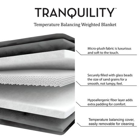 Tranquility Weighted Blanket w/ Washable Cover, 15 lbs - image 6 of 6