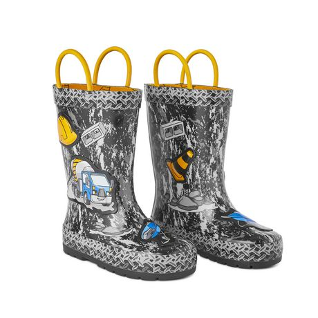 Weather Spirits Toddler Boys' Digger Rubber Boot - image 2 of 4