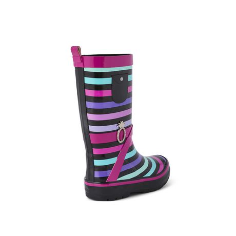 Weather Spirits Girls' Stripe Rubber Boot - image 4 of 4