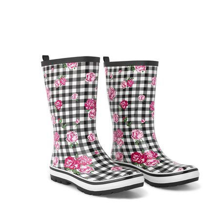 Weather Spirits Ladies' Flower Rubber Boot - image 2 of 4