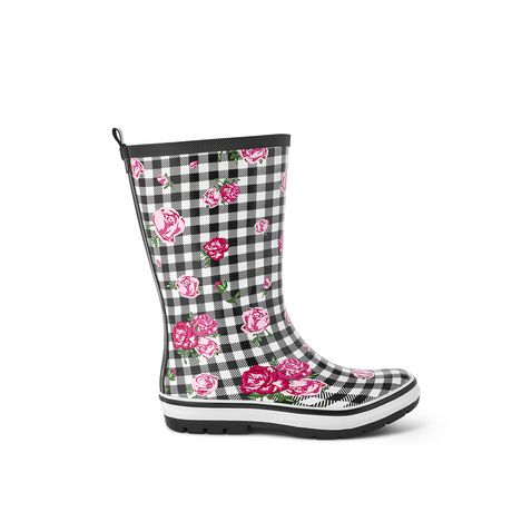 Weather Spirits Ladies' Flower Rubber Boot - image 1 of 4