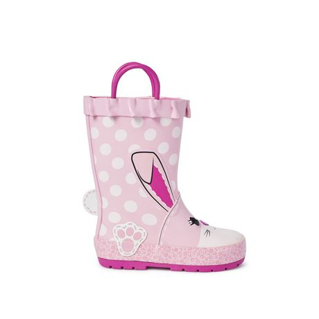 Weather Spirits Toddler Girls' Rubber Boot - image 1 of 4