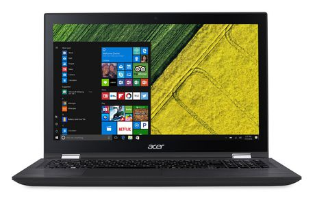 "ACER Spin 3 SP315-51-3684 15.6"" Laptop, Black, Intel Core i3-6100U, Intel HD Graphics 520, 6GB DDR4, 1TB HDD 5400 RPM, WIN10 Home(64-bit), NX.GK9AA.011 - image 2 of 5"
