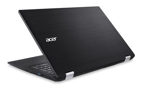 "ACER Spin 3 SP315-51-3684 15.6"" Laptop, Black, Intel Core i3-6100U, Intel HD Graphics 520, 6GB DDR4, 1TB HDD 5400 RPM, WIN10 Home(64-bit), NX.GK9AA.011 - image 3 of 5"