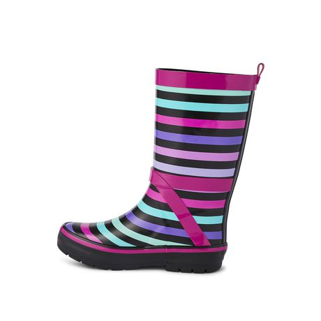 Weather Spirits Girls' Stripe Rubber Boot - image 3 of 4