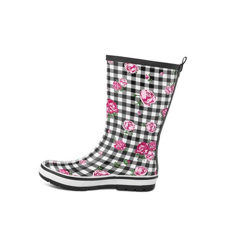 Weather Spirits Ladies' Flower Rubber Boot - image 3 of 4