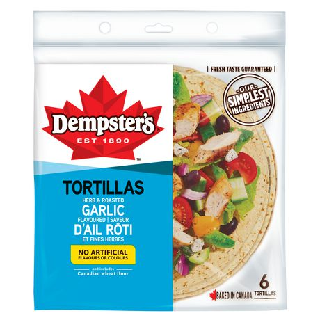 """Dempster's® Herb and Roasted Garlic Flavoured  10"""" Tortilla - image 1 of 7"""