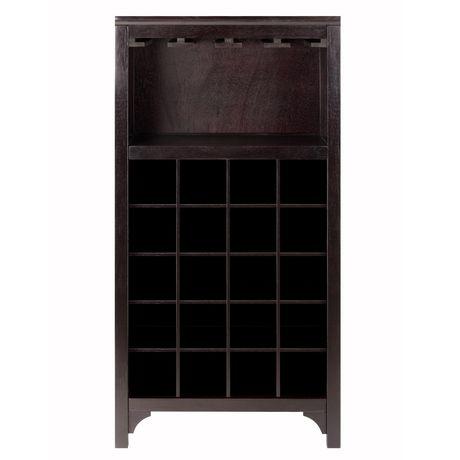 92729- Ancona Modular Wine Cabinet with Glass Rack & 20-Bottle - image 2 of 6
