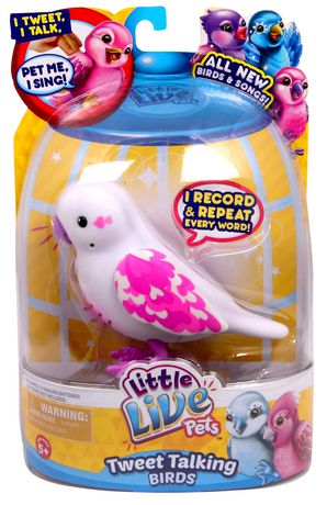 Jouet oiseau Coeur léger Oiseaux qui gazouillent et parlent de Little Live Pets - image 1 de 2