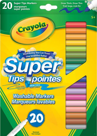 Crayola 20 Pack Washable Super Tip Markers