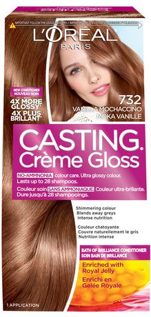 loreal paris coloration casting crme gloss par healthy look n 732 moka vanille - Coloration Casting