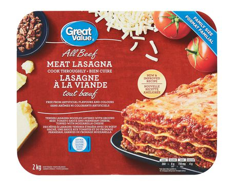 Great Value All Beef Lasagna meal - image 1 of 2