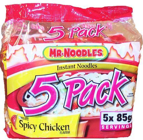 Caisse de nouilles ramen instantanées à saveur de poulet épicé de Mr. Noodles en paquet de 5 - image 3 de 9