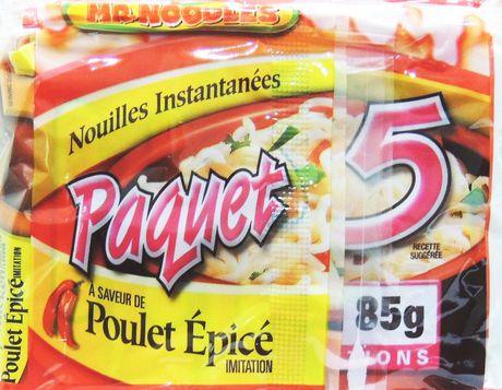 Caisse de nouilles ramen instantanées à saveur de poulet épicé de Mr. Noodles en paquet de 5 - image 5 de 9