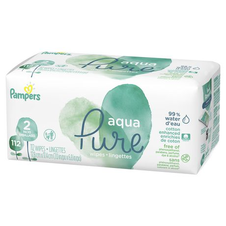 Pampers Aqua Pure Sensitive Baby Wipes 2x Pop Top