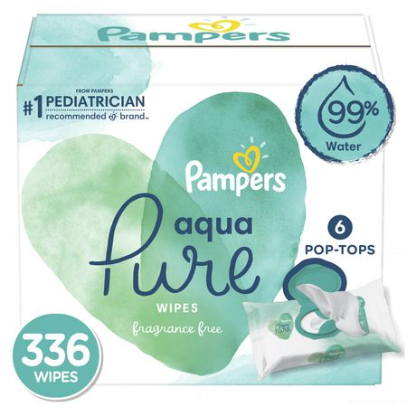 Pampers Aqua Pure Sensitive Wipes   6 X by Pampers