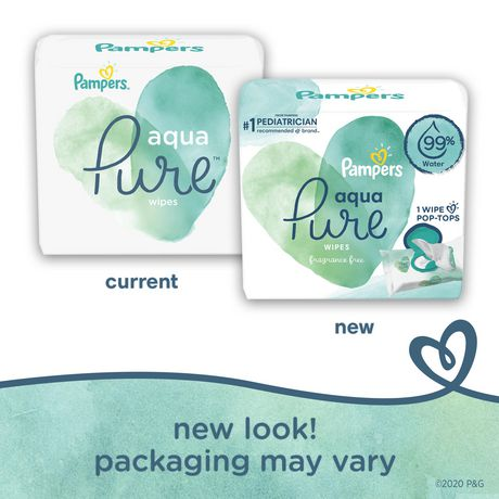Pampers Aqua Pure Sensitive Baby Wipes 6X Pop-Top - image 2 of 6