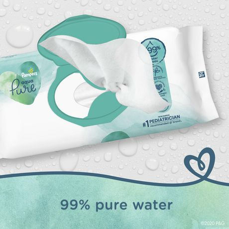 Pampers Aqua Pure Sensitive Baby Wipes 6X Pop-Top - image 3 of 6