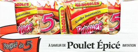 Caisse de nouilles ramen instantanées à saveur de poulet épicé de Mr. Noodles en paquet de 5 - image 9 de 9