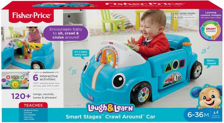 40db6e574 Fisher-Price Laugh   Learn Crawl around Car - English Edition ...