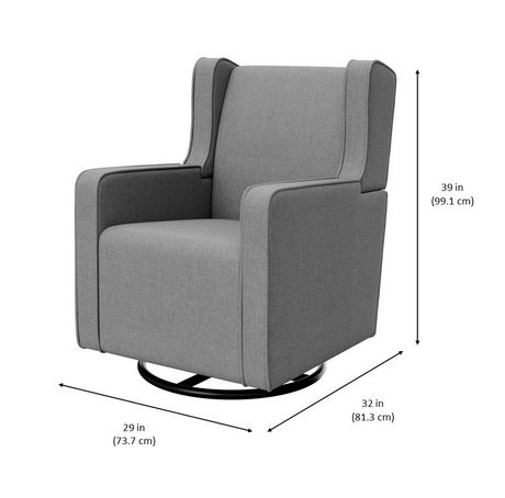 Graco Remi Upholstered Swivel Glider - image 5 of 5