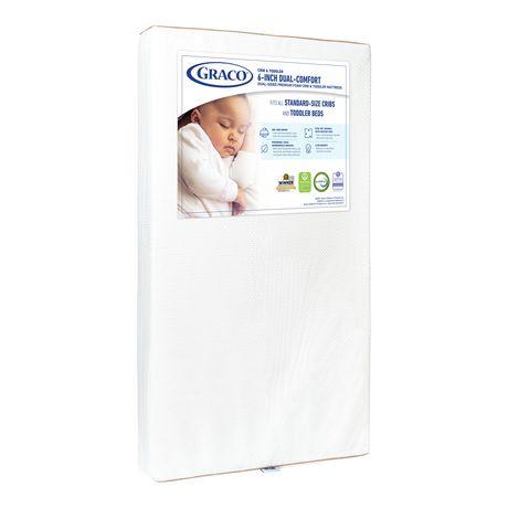 Graco Dual Comfort 6 Inch Foam Crib Amp Toddler Mattress