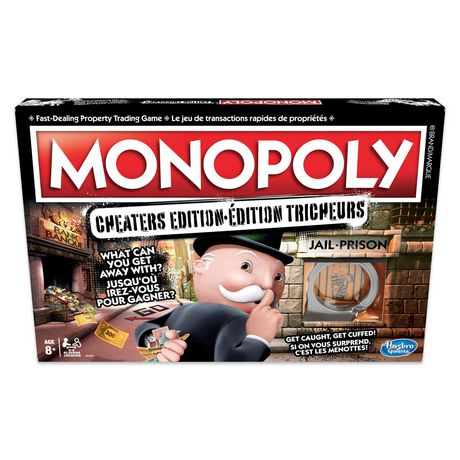 Hasbro Gaming Monopoly Game: Cheaters Edition - image 1 of 7