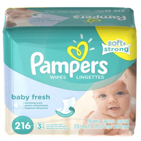 Pampers Baby Wipes Baby Fresh 3x Pack Walmart Canada