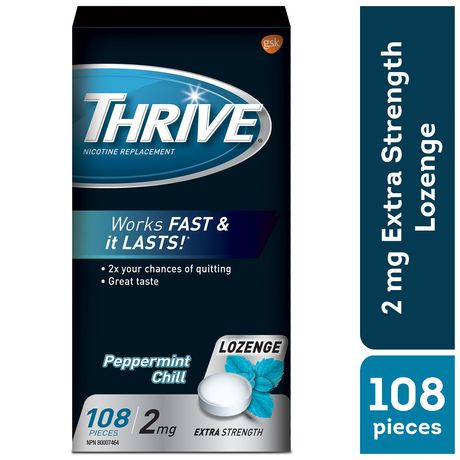 Thrive Lozenges 2mg Regular Strength Nicotine Replacement - image 1 of 2