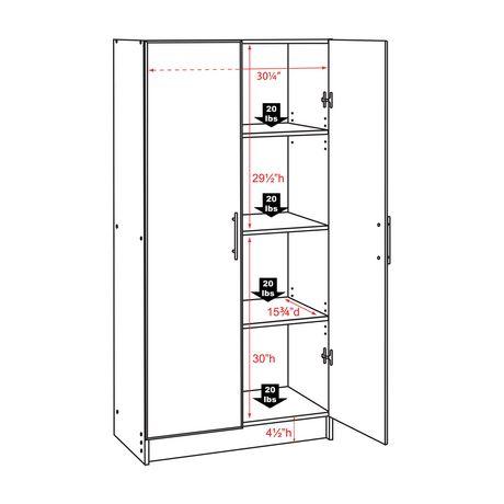 "Prepac Elite 32"" Storage Cabinet - Light Gray - image 8 of 9"