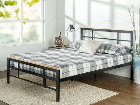 Zinus Urban Metal & Wood Platform Bed   Walmart Canada