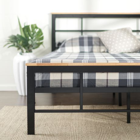 Zinus Urban Metal Amp Wood Platform Bed Walmart Canada