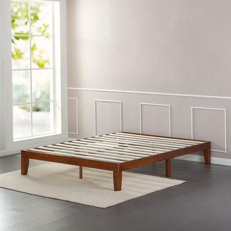 Zinus Solid Wood 12 Quot Platform Bed Walmart Canada