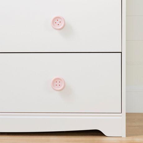 South Shore Sweet Piggy Commode 4 tiroirs avec paniers-Blanc et rose - image 6 de 9