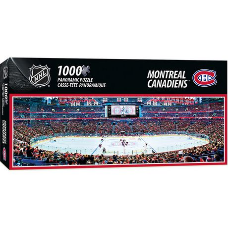 new concept db35b de5d5 Masterpieces Puzzle Company NHL 1000 Piece Panoramic Puzzle Montreal  Canadiens