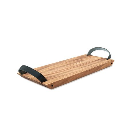 Ironwood Small Serving Board with Leather Handles - image 1 of 3