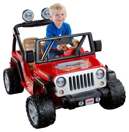Power Wheels Jeep Wrangler Ride-On Vehicle - Lava Red & Black