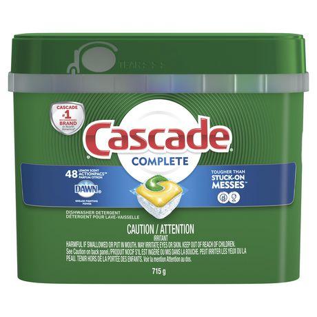Cascade® Complete™ ActionPacs™ Dishwasher Detergent, Lemon Scent - image 1 of 8