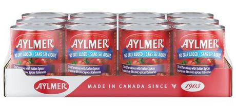 Aylmer Tomatoes Diced Italian No Salt Added - Case Pack - image 1 of 2