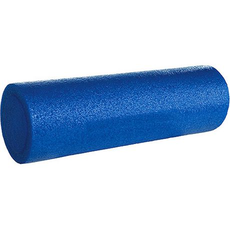 Blue foam roller from Iron Body Fitness