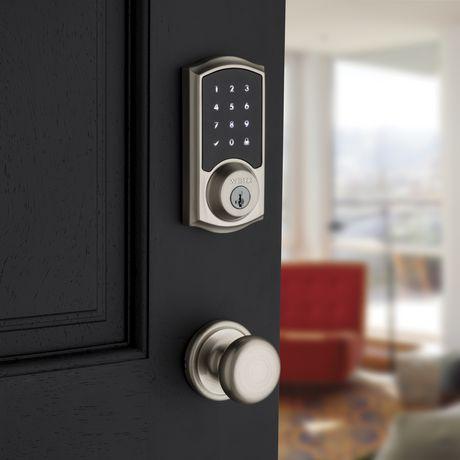 Pêne dormant électronique Weiser Smartcode 10 à entrée sans clé et à clavier, Nickel satiné - image 4 de 5