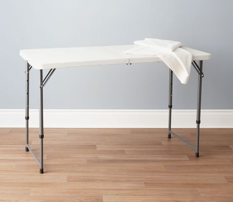 GSC 4' Centerfolding Table - White - image 1 of 2