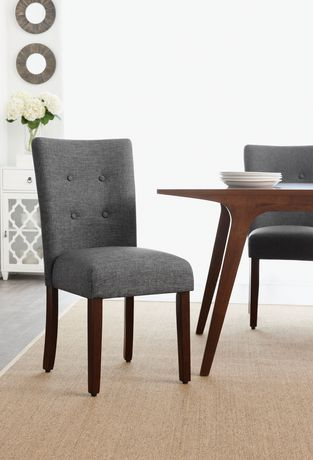 Hometrends Grey Tufted Dining Chair Walmart Canada