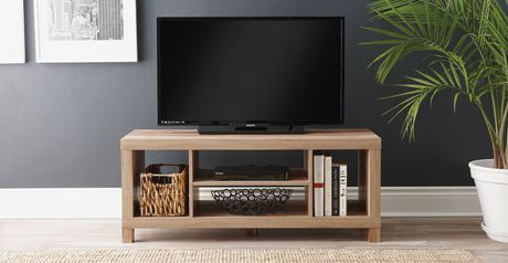 Hometrends Rustic Hollow Core Tv Stand Walmart Ca