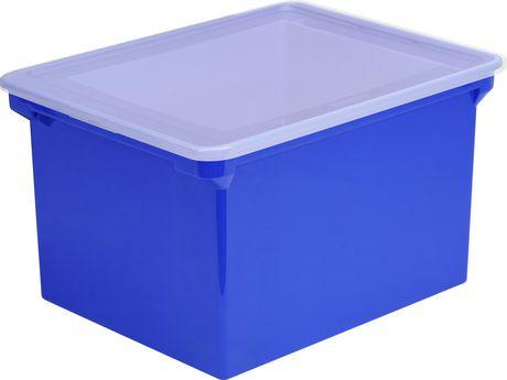 Storex-Bac de rangement pour dossiers format lettre/légal,Bleu - image 2 de 3