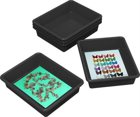 Storex plateaux de rangement, format lettre, 10 x 13 pouces, noirs, emballage de 5 - image 2 de 2