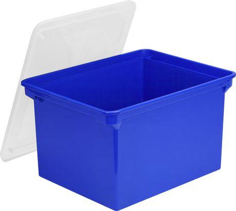 Storex-Bac de rangement pour dossiers format lettre/légal,Bleu - image 1 de 3