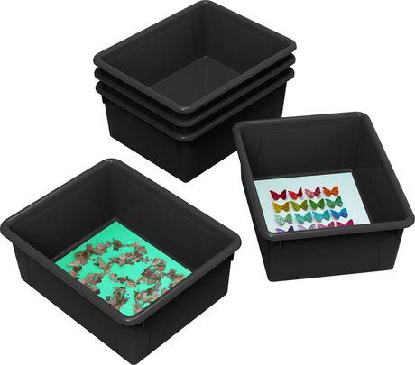 Storex bacs de rangement (plateaux), format lettre, 10 x 13 x 5 pouces, noirs, emballage de 5 - image 2 de 2