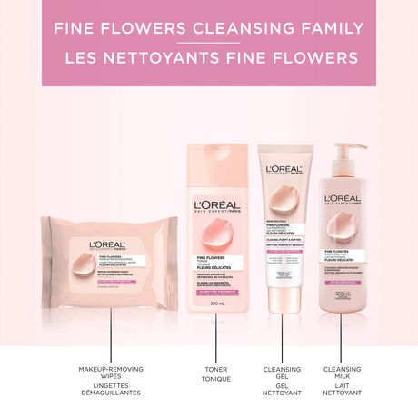 L'Oréal Paris Fine Flowers Makeup Removing Cleansing Wipes, with Rose & Jasmine Flower Extracts, 25 wipes - image 6 of 7